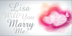 Profess your love by proposing with a Banner! Customize in our Online Designer
