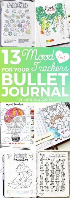 Mood trackers can help you to improve your mental health and analyze negative thought patterns. But they can also spark your creativity! Click through to see 13 (more) mood tracker bullet journal ideas to inspire your next mood tracker. Amazing bullet journal inspiration! - #bujo #bujoinspire #bulletjournal #bulletjournaling #bulletjournaljunkies #moodtracker