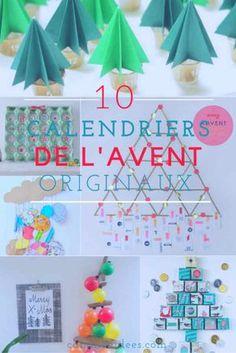 10 calendriers de l'avent étonnants, à fabriquer pour ce noël Theme Noel, Holiday Decor, Fabric, Christmas, Gifts, Diy, Advent Calendars, Home Decor, Holidays