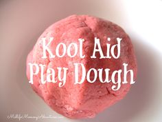 Kool Aid Play Dough Recipe: It was super easy to make, came together perfectly and smells amazing. All you need is 2 cups of flour, a cup of salt, 1 package of Kool Aid and a cup of water. {mix all ingredients well}. Activities For Girls, Fun Crafts For Kids, Creative Crafts, Diy For Kids, Cool Kids, All You Need Is, Kool Aid Play Dough Recipe, Koolaid Playdough, Art Plastique