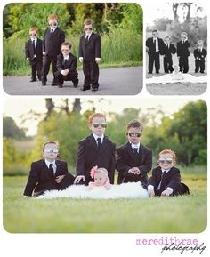 Secret service brothers and little sister. Too cute!