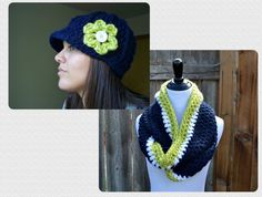 Seattle Seahawks Hat and Scarf Set SAVE 8 by SoLaynaInspirations