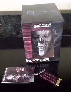 Terminator Genisys Half Scale Endo Skull & Brain Chip Key Chain June Loot Crate #LootCrate