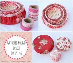 Lots and lots of fun crafts things to make - Gathered Round Basket by Spoonful of Sugar Designs