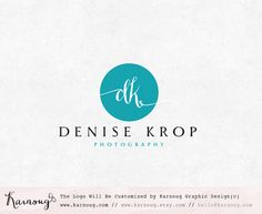 Initial Logo Circle Logo Photography Logo Boutique Logo by karnoug