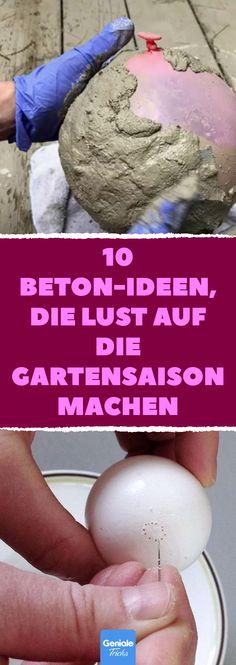 10 Beton-Ideen, die Lust auf die Gartensaison machen 10 concrete ideas that make you want to enjoy the gardening season Concrete garden decorations to make yourself: 10 ideas