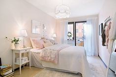 Lovely blush pink walls...from planete-deco.
