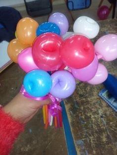 Ramillete con globos tubitos..