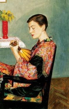 Polya, Ivan (1889-1939) - Woman With a mandolin