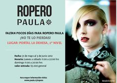 Desde este jueves estare en Ropero Paula, en el stand 22!!!