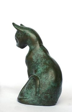 Cat Sculpture by Daniele Dekeyser Sculptures Céramiques, Art Sculpture, Chat Oriental, Cat Statue, Art Carved, Cat Sitting, Domestic Cat, Art Plastique, Cat Art