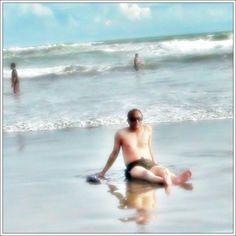 Swim at #Parangtritis beach. Big waves, soft sand, cheerful sun... it all makes me happy on this beach. #Yogyakarta