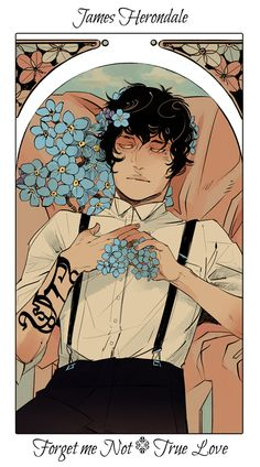 Drawn by Cassandra Jean ... the last hours, flower card, the mysterious tlh, james herondale