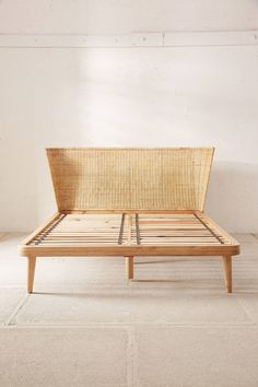 Shop Jens Woven Windsor Platform Bed at Urban Outfitters today. We carry all the latest styles, colors and brands for you to choose from right here. Rattan Headboard, Bed Frame And Headboard, Bed Frames, Rattan Bed Frame, Furniture Sale, Bedroom Furniture, Bedroom Decor, Bedroom Ideas, Wood Beds