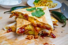 How To Make BBQ Chicken and Pineapple Quesadillas Chicken Recipe