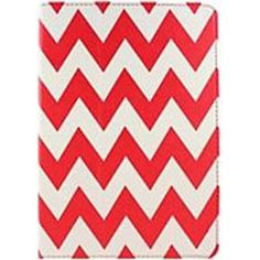 Accellorize 16147 Case for Apple iPad Air Tablet PC - Red Chevron