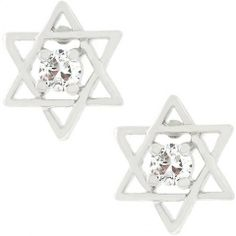 Star Of David Stud Earrings – The Spinster's Shoppe