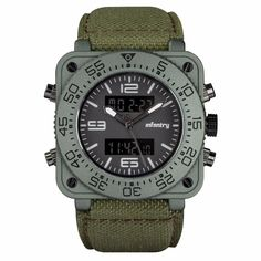 Save up to on our Weekly Deals and overstock items. The INFANTRY Cobra Military Watch is a classic and contemporary timepiece, fully designed and developed by INFANTRY. It has become one of the most popular INFANTRY Military Watches over time, combin Rugged Style, Tactical Watch, Tactical Gear, Tactical Clothing, Rolex Gmt Master, Cool Watches, Watches For Men, Military Time Watches, Army Watches