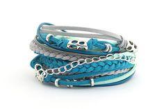 Boho Bracelet Glacier Gray Wrap Bracelet Gray by cardioceras