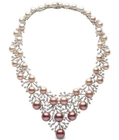 Ombre Pearl Bib Necklace - Yoko London - Product Search - JCK Marketplace