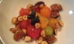 Cherry Tomatoes, Toasted Hazelnuts, Fresh Figs in a Balsamic Dressing. Gluten Free Full recipe on LRModernAlchemy.com