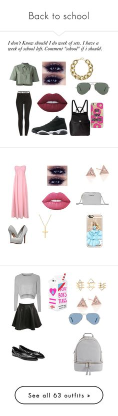 """""""Back to school"""" by junebug02 on Polyvore featuring Calvin Klein, Kenneth Jay Lane, Agent 18, Lime Crime, Equipment, Ray-Ban, Jordan Brand, Dolce&Gabbana, Alice & You and EF Collection"""