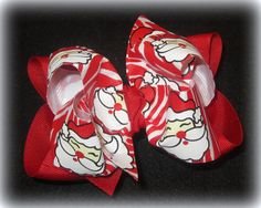 Hey, I found this really awesome Etsy listing at https://www.etsy.com/listing/114640873/santa-hair-bow-christmas-zebra-hairbow