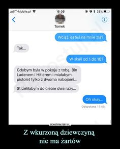 To powiedziała Lydia lol Very Funny Memes, Wtf Funny, Funny Conversations, Happy Photos, Funny Text Messages, Funny Clips, Best Memes, True Stories, I Laughed