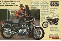 The superbike evolution. Honda 750, Honda Bikes, New Honda, Honda Motorcycles, Classic Motors, Classic Bikes, Retro Bike, Japanese Motorcycle, Cafe Bike