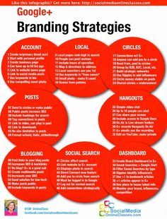 Branding Strategies via Google Plus [Infographic] #DigitalMarketing