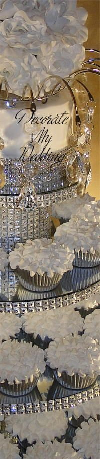 Crystal Cupcake Stands 4 TIERS