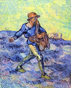 The Sower 1 by Van Gogh.  Order from DEKORAMI as a poster, canvas print, mural. Zamów jako  obraz na płótnie, plakat lub fototapetę na DEKORAMI.pl.