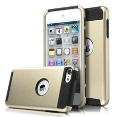 ULAK iPod Touch 5 case,iPod Touch 6 Case, [Colorful Series] 2-Piece Style Hybrid Shockproof Hard Case Cover for Apple iPod touch 5 6th Generation (Champagne Gold + Black) - Walmart.com