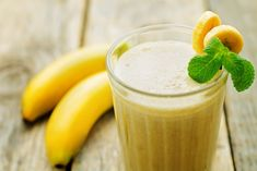 Vitamina de banana e guaraná para dar energia