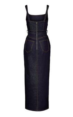 Stretch Denim Bustier Dress By Brandon Maxwell   Moda Operandi
