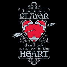 Then I Took An Arrow To The Heart T-shirt from ThinkGeek #gaming #skyrim