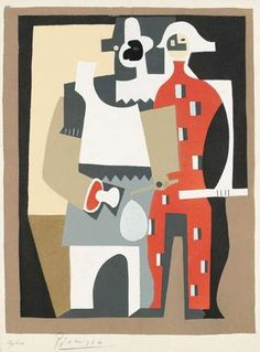 Pablo Picasso, ARLEQUINS, 1920