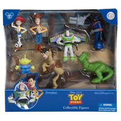 This set includes; Sheriff Woody Buzz Lightyear Cowgirl Jessie Rex Bullseye Emporer Zurg 3 Little Green Aliens new with box