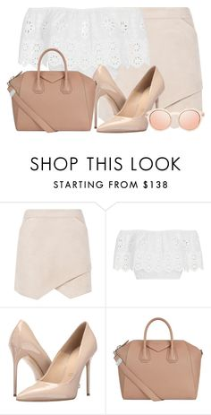 """"" by a-good-old-southern-belle ❤ liked on Polyvore featuring BCBGMAXAZRIA, Miguelina, Massimo Matteo and Givenchy"