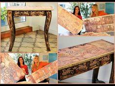 Reciclar Muebles de Pino Vintage - Sublimacion - Patinas - - YouTube