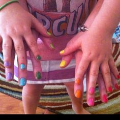 Girl Scout Daisy Petal Nails...make sure to get permission from your parents first :)