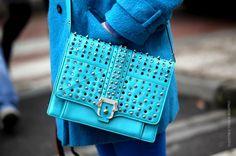 #ZhannaRomashka's blue bag. Milan.