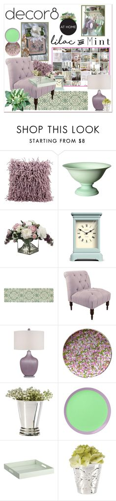 """""""Pastel Lilac and Mint"""" by adduncan ❤ liked on Polyvore featuring interior, interiors, interior design, home, home decor, interior decorating, Mina Victory, Middle Kingdom, Allstate Floral and Newgate"""