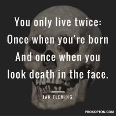 26 October 2015: A rather Stoic quote from Ian Fleming on the day #SPECTRE opens in the UK