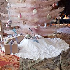 White Petticoat Tree Skirt by Rachel Ashwell Shabby Chic Couture