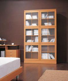 Furniture Oak Barrister Bookcase With Glass Doors  Shelves Lift - Glass door bookshelves