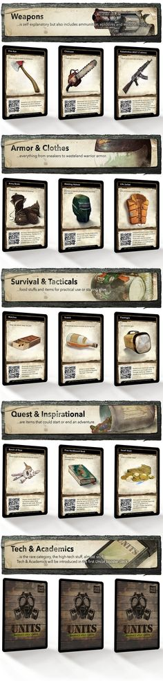 Now on Kickstarter. https://www.kickstarter.com/projects/skepnadstudios/units-the-scavenger-deck-illustrated-rpg-loot-card   UNITS - A new take on generic loot cards for all types of post-apocalyptic, modern and zombie tabletop role-playing games.