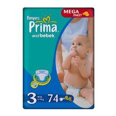 Prima Bebek Bezi No 3 4-9Kg MIDI 74 Adet -Mega Paket