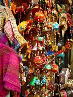 Market place in New Delhi, India