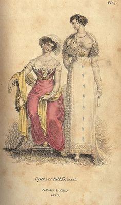 Mirror of the Graces, Opera or Full Dress, 1813. Love love lover her short little cape!
